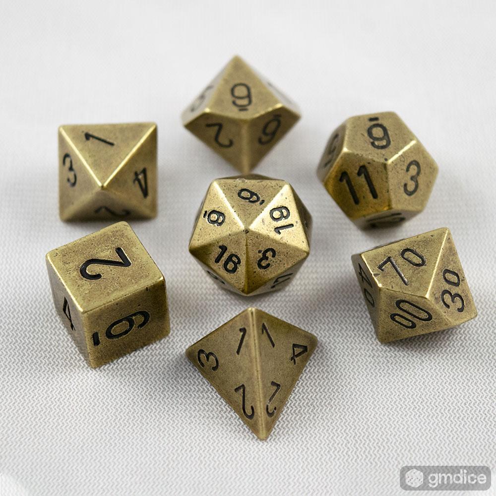 7-Die Solid Metal Brass Chessex