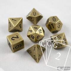 7-Die Solid Metal Brass Chessex