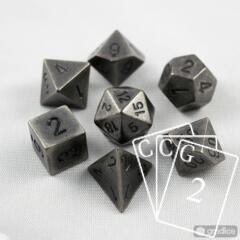 7-Die Solid Metal Dark Metal Chessex