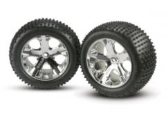 3770 Alias tires, All Star chrome wheels, foam inserts (assembled and glued) (rear) (2)