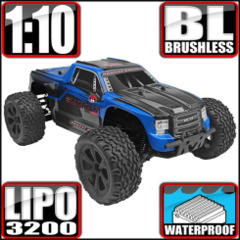 Blackout XTE PRO 1/10 Brushless Electric Monster Truck Blue