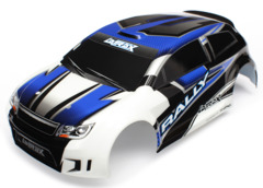 7514 Body, LaTrax 1/18 Rally, blue (painted)/ decals