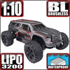 Blackout XTE PRO 1/10 Brushless Electric Monster Truck Silver