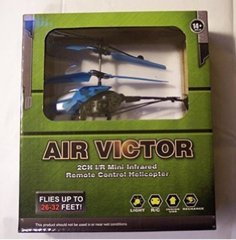 Air Victor Infrared R/C Helicopter Blue