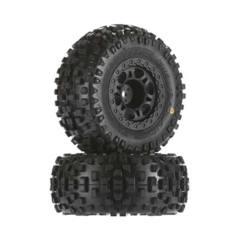 1182-22 Badlands SC 2.2 /3.0 M2 Tires Mntd Blk Whls