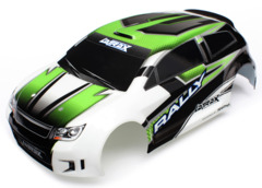 7513  Body, LaTrax 1/18 Rally, green (painted)/ decals