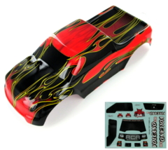1/10 Truck Body, Red Flame 88049-R