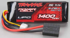 25C 11.1V 3S 3-Cell 1400mAh Lipo Batty:TRA 1/16 #2823