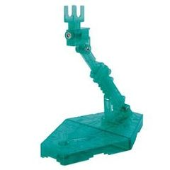 1/144 Clear GREEN DISPLAY STAND ACTION BASE 2