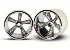 4172 TRX Pro-Star chrome wheels (2) (rear) (for 2.2