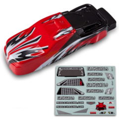 1/8 Truck Body Red and Black BS904-013R
