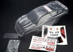 3714 Traxxas Rustler VXL Clear 1/10 Truck Body with Decal Hardware
