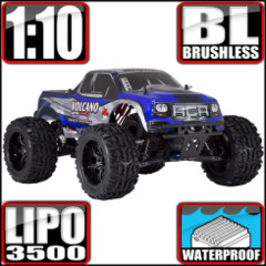 Volcano EPX PRO 1/10 Scale Electric Brushless Monster Truck Blue