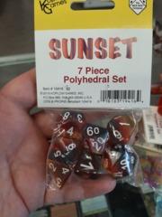Sunset Layered Dice 7 Piece