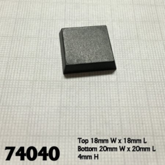 20mm Square Bases (25)