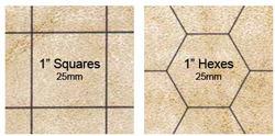 Battlemat 1 Hex & Square Reversible 23.5 x 26