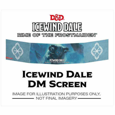 DUNGEONS AND DRAGONS: ICEWIND DALE RIME OF THE FROSTMAIDEN DUNGEON MASTER SCREEN