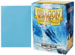 Dragon Shield Box of 100 in Baby Blue Matte