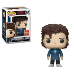 Funko POP - Dustin Snowball Dance Stranger Things Shared Convention Sticker