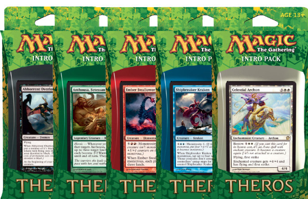 Card Titan Mtg Cards And Accessories All 5 Theros Intro Packs