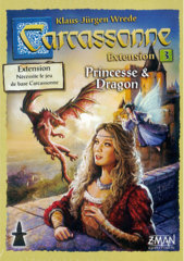 Carcassonne Ex3. Princesse & Dragon