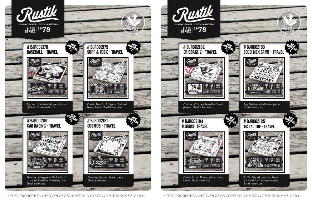 Rustik: Mini jeux de Voyage (Variée)