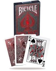 Cartes à Jouer Bicycle: Metalluxe Foil Back Crimson
