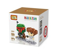 Leia and Boba Fett Mini Building Blocks
