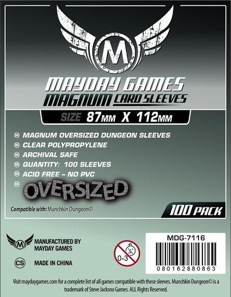 Card Sleeves - Magnum Oversized (87x112mm) (Pack of 100)