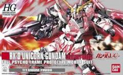 HG 1/144 RX-0 Unicorn Gundam (Destroy Mode) Titanium Finish