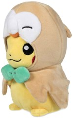 Pikachu Disguised/Rowlet Plush ~15cm