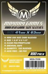 Mini USA Card Sleeves (41x63mm) (Pack of 100)
