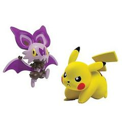 TOMY Pokemon - Noibat vs Pikachu
