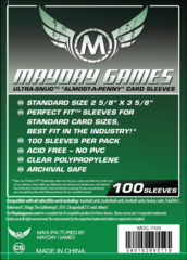 Mayday Games: Card Sleeves (Ultra Snug 66.5x92mm) (Pack of 100)