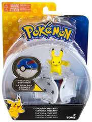 TOMY Pokemon - POPS Open: Pikachu + Great Ball