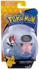 TOMY Pokemon - Pikipek vs Clefairy