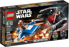 Lego Star Wars: Micro Fighters - A-Wing VS. TIE Silencer 75196