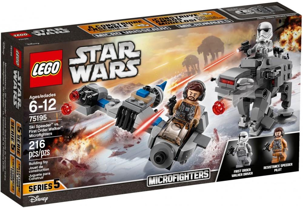 Lego Star Wars Micro Fighters Ski Speeder Vs First Order Walker 75195