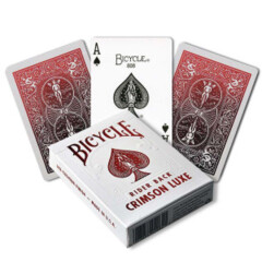 Cartes à Jouer Bicycle: Rider Back - Crimson Luxe