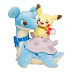 Pikachu Riding Lapras Plush ~25cm