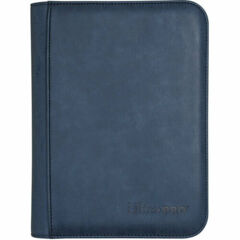 Ultra Pro 4-Pocket Zippered Pro-Binder: Suede - Sapphire