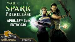 War of the Spark Sealed Prerelease - April 28th 6pm