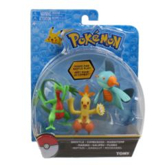 TOMY Pokemon - Grovyle + Combusken + Marshtomp