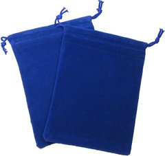 Cloth Dice Bag: Large Blue