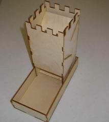 Blue Panther Dice Tower - Natural