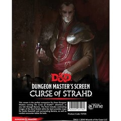 D&D Dungeon Master's Screen: Curse of Strahd