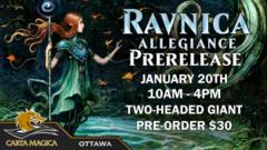 Ravnica Allegiance Prerelease - January 20th 10AM Two-Headed Giant
