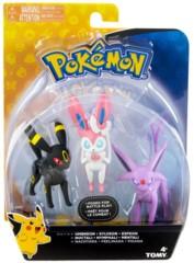 TOMY Pokemon - Umbreon + Sylveon + Espeon