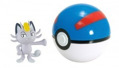 TOMY Pokemon - Alolan Meowth + Great Ball
