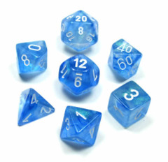 Borealis Dice - Sky Blue/White 7-Die Set